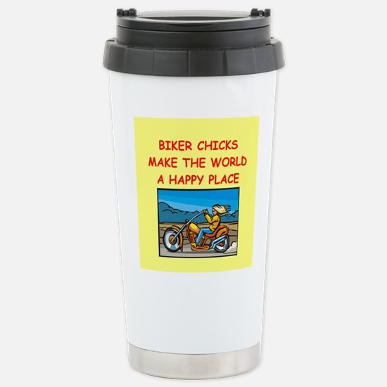 biker chicks Stainless Steel Travel Mug