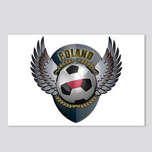 Polish soccer ball with crest Postcards (Package o