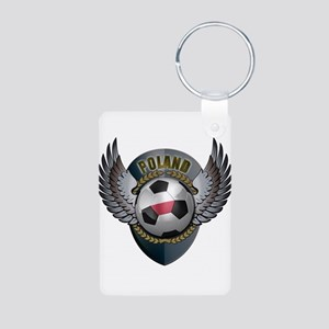 Polish soccer ball with crest Aluminum Photo Keych