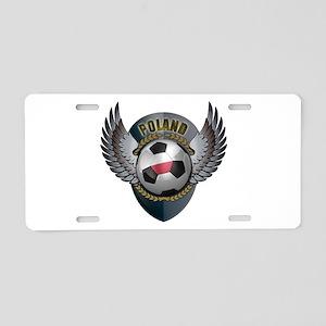 Polish soccer ball with crest Aluminum License Pla