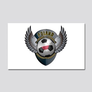 Polish soccer ball with crest Car Magnet 20 x 12