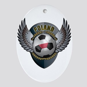 Polish soccer ball with crest Ornament (Oval)