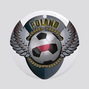 Polish soccer ball with crest Ornament (Round)