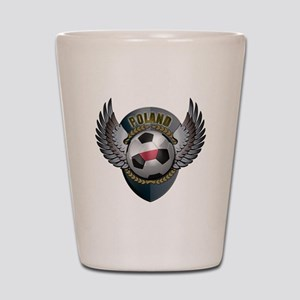 Polish soccer ball with crest Shot Glass
