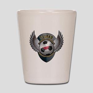 Polish soccer ball with crest Shot Glass