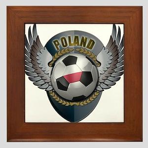 Polish soccer ball with crest Framed Tile