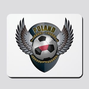 Polish soccer ball with crest Mousepad