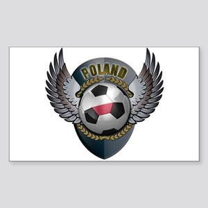 Polish soccer ball with crest Sticker (Rectangle)