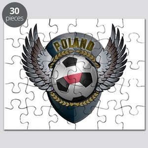 Polish soccer ball with crest Puzzle