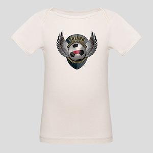 Polish soccer ball with crest Organic Baby T-Shirt