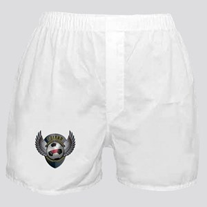 Polish soccer ball with crest Boxer Shorts