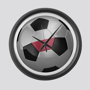 Polish soccer ball Large Wall Clock