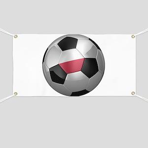 Polish soccer ball Banner