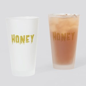 Honey Dripping Gold Paint Drinking Glass