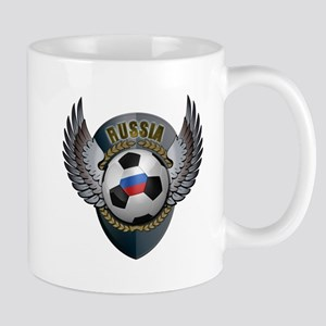 Russian soccer ball with crest Mug