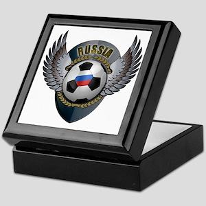 Russian soccer ball with crest Keepsake Box