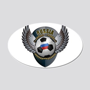 Russian soccer ball with crest 22x14 Oval Wall Pee
