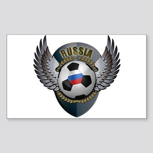 Russian soccer ball with crest Sticker (Rectangle)