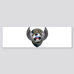 Russian soccer ball with crest Sticker (Bumper)