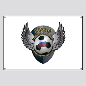 Russian soccer ball with crest Banner