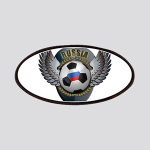 Russian soccer ball with crest Patches