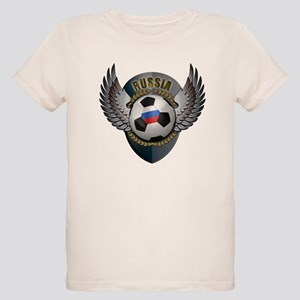 Russian soccer ball with crest Organic Kids T-Shir