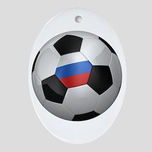 Russian soccer ball Ornament (Oval)