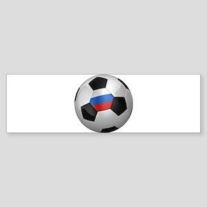 Russian soccer ball Sticker (Bumper)