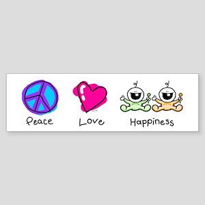 Peace Love and Twins Bumper Sticker