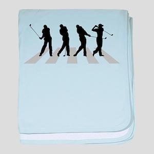 Golfer Crossing 1 baby blanket