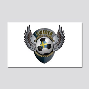 Swedish soccer ball with crest Car Magnet 20 x 12