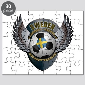 Swedish soccer ball with crest Puzzle