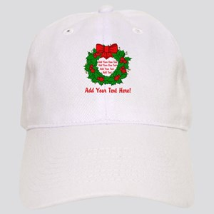 Add Your Own Text Wreath Cap