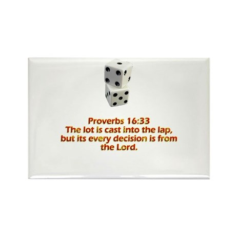 Proverbs 16:33 Rectangle Magnet (100 pack)