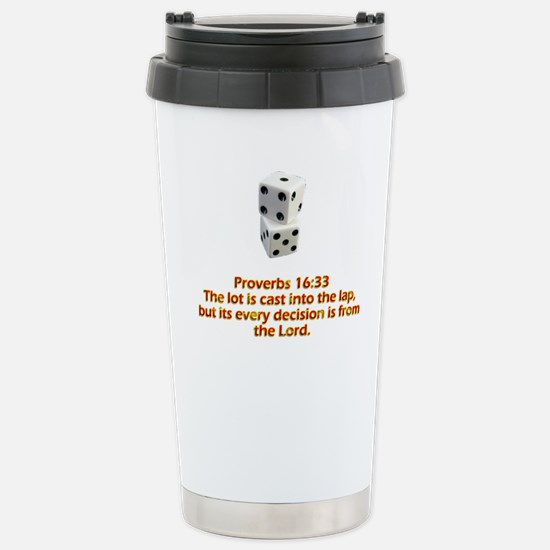 Proverbs 16:33 Stainless Steel Travel Mug