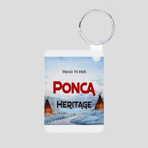 Ponca Heritage Aluminum Photo Keychain