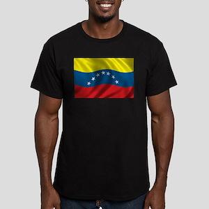 Flag of Venezuela Men's Fitted T-Shirt (dark)