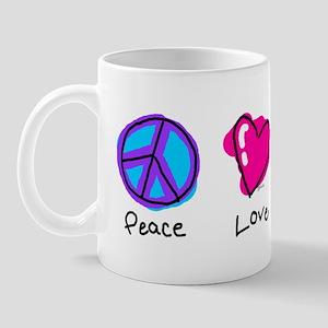 Peace Love and Triplets Mug