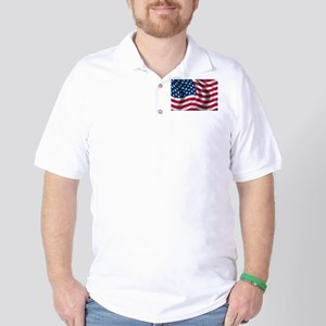 American Flag Golf Shirt