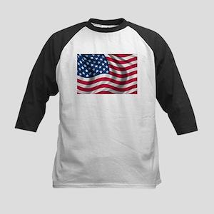 American Flag Kids Baseball Jersey