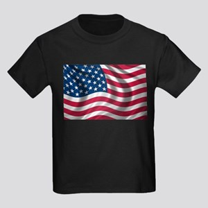 American Flag Kids Dark T-Shirt