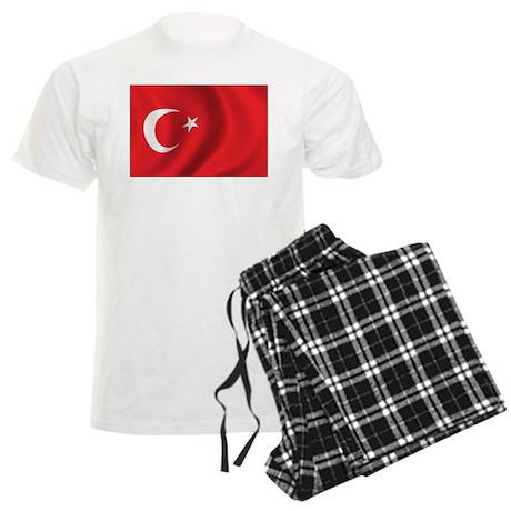 Flag of Turkey Men's Light Pajamas