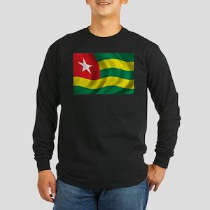 Flag of Togo Long Sleeve Dark T-Shirt