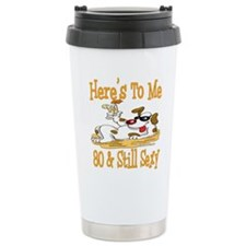 Cheers on 80th Stainless Steel Travel Mug
