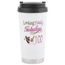 Fabulous 100th Stainless Steel Travel Mug