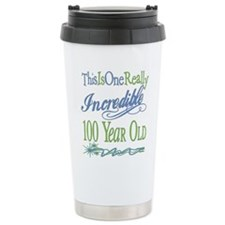 Incredible 100th Stainless Steel Travel Mug