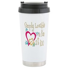 Lovable 100th Stainless Steel Travel Mug