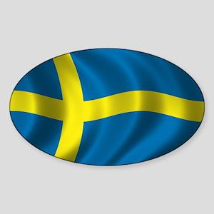 Flag of Sweden Sticker (Oval)