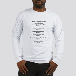 New England State High Points Long Sleeve T-Shirt