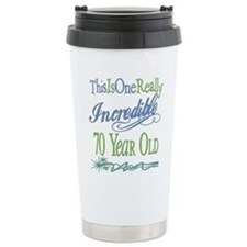 Incredible 70th Stainless Steel Travel Mug